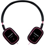 885170026322, Slimz over-ear headphone - black and pink