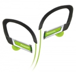 885170045477, In-ear sports clip earphone - green
