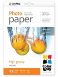 "Photo paper ColorWay high glossy 35 lb, 8.5""х11"", 100 sht"