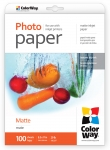 "Photo paper ColorWay matte 29 lb, 8.5""х11"", 100 sht"