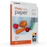 "Photo paper ColorWay matte 51 lb, 8.5""х11"", 20 sheets (PM190020LT)"