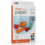 "Photo paper ColorWay matte 51 lb, 4""х6"", 50 sht (PM1900504R)"