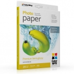 "Photo paper ColorWay premium semi-glossy 68 lb, 8.5""х11"", 20 sht (PNG255020LT)"