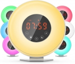 Wake up light therapy alarm clock